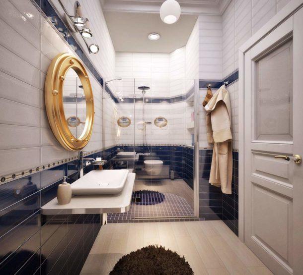 Хрущевская ванная в морском стиле