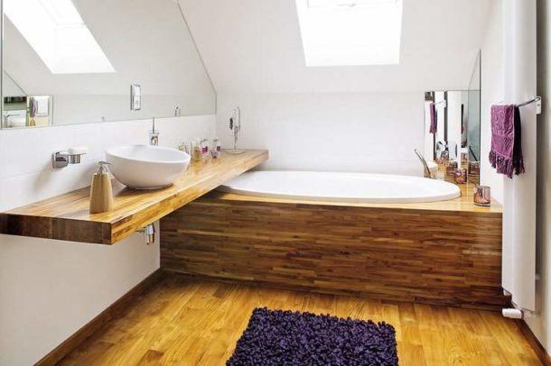 Деревянный корпус для ванны