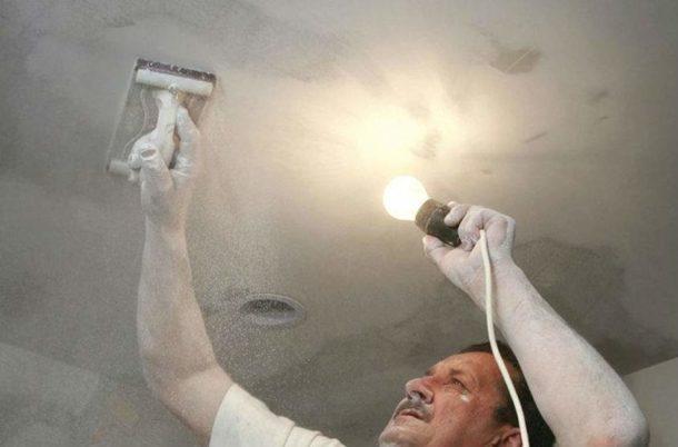 Подготовка потолочной поверхности