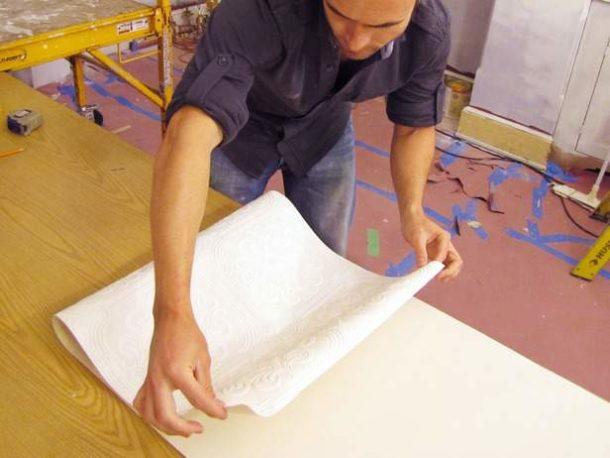 Работа с полотнами на бумажной подложке