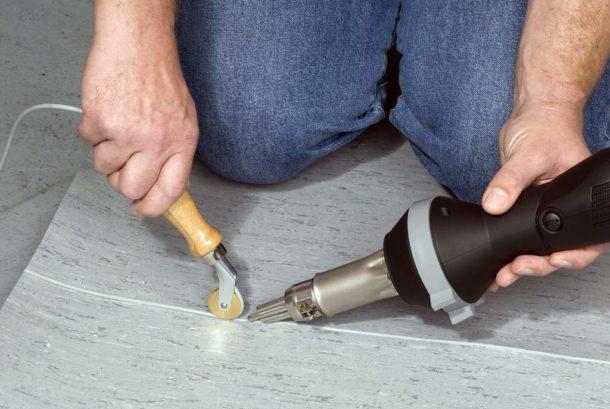 Процесс горячего соединения частей покрытия