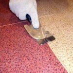 Удаление излишков сварочного шнура