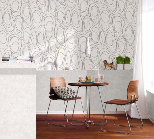 Флизелиновые полотна в интерьере кухни