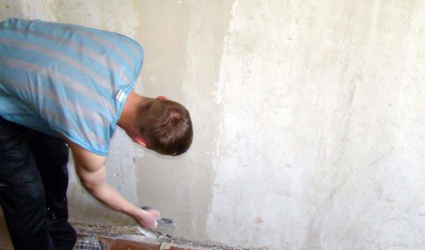 Готовим стены перед поклейкой