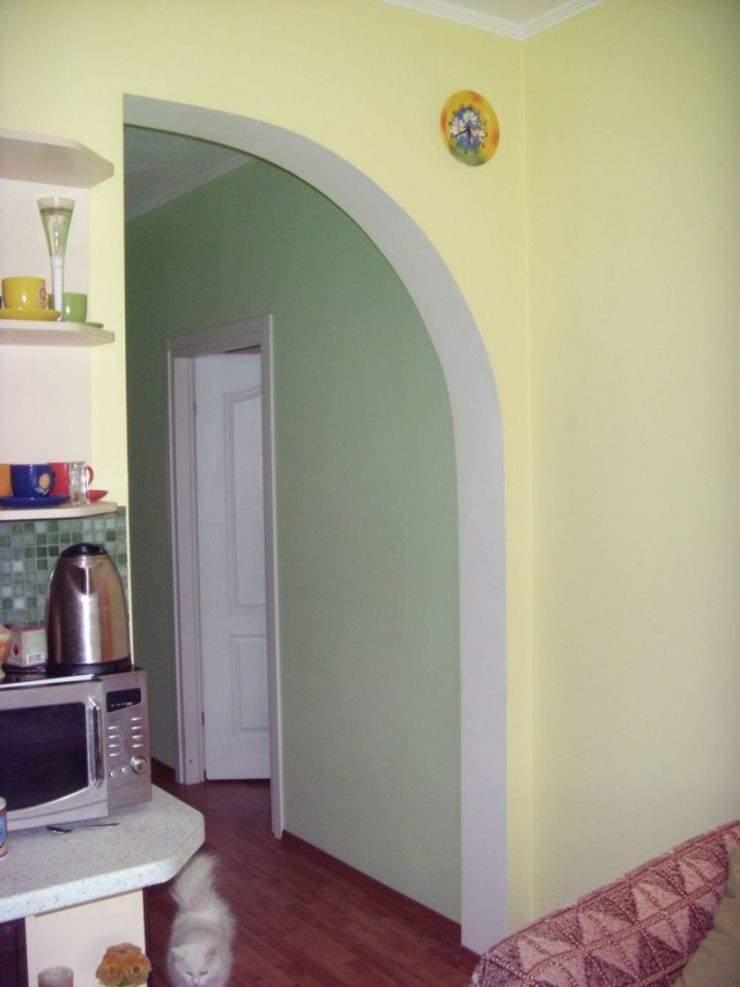 Арки из гипсокартона на стене фото дизайн интерьера своими руками 12