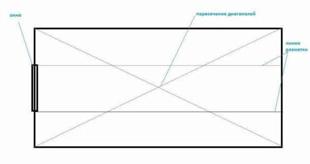 Схема разметки под обои