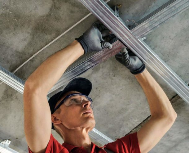 Обрешетка на потолок под гипсокартон