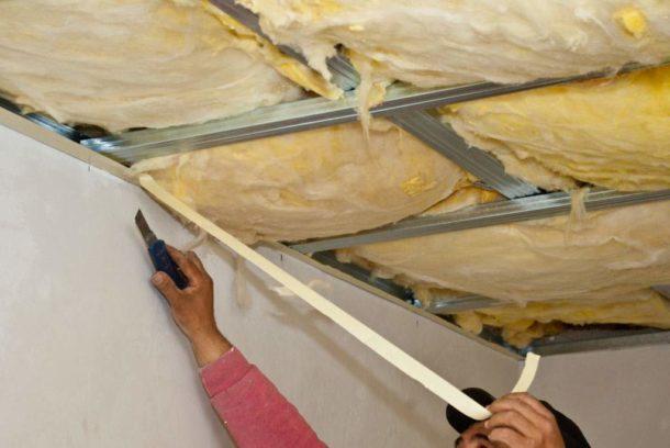 Пробковая шумоизоляция на потолок
