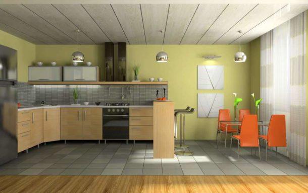 Применение пластиковых панелей на кухне