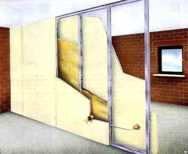 В конструкции скрыты утеплитель и проводка