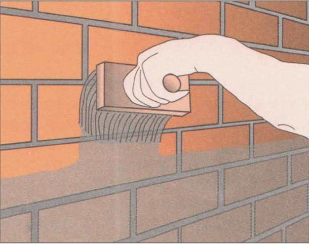 Подготовка стены из кирпича
