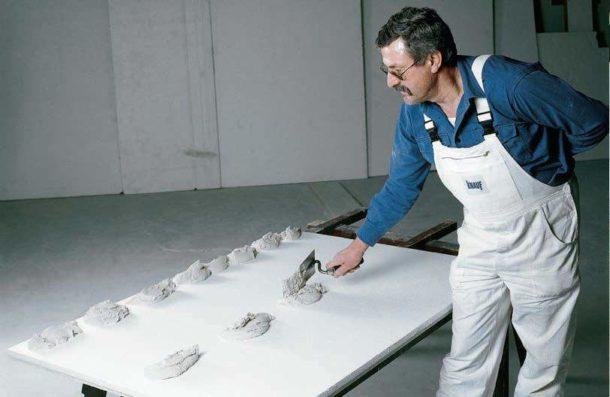 """Приклеивание ГКЛ на """"Перлфикс"""" к бетонному основанию"""