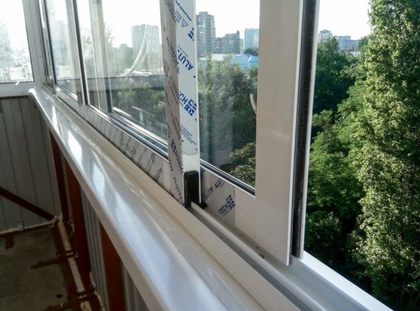 Монтаж раздвижного алюминиевого окна своими руками 41