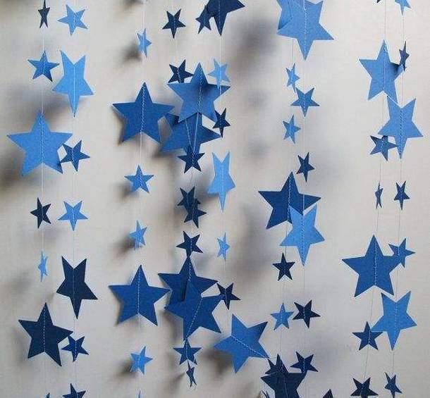 Гирлянда из звёздочек своими руками 37