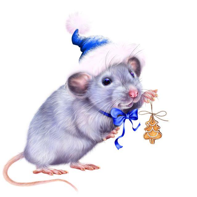 Белая Металлическая Крыса - символ 2020 года