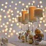 Свечи на бокалах с шариков