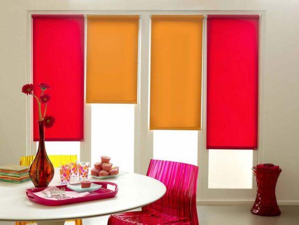 Яркие разноцветные шторы