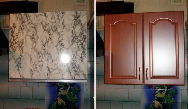 Замена фасадов преображает кухню