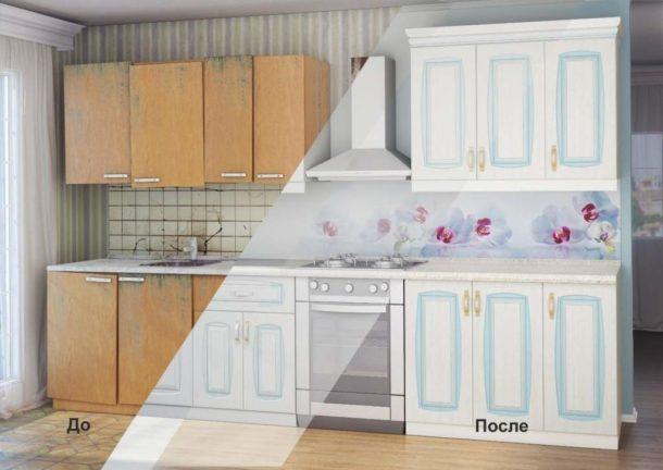 Реставрация и обновление старой кухонной мебели