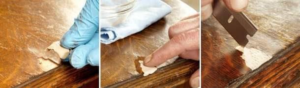 Реставрация столешницы кухонного стола