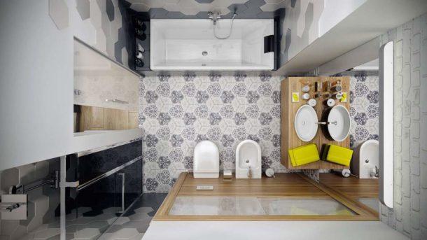 Ванная, объединенная с туалетом