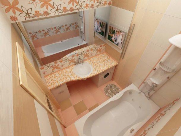 Дизайн типовой малогабаритной ванной