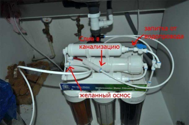 Подключение трубок