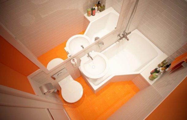 Сантехника для крохотной ванной