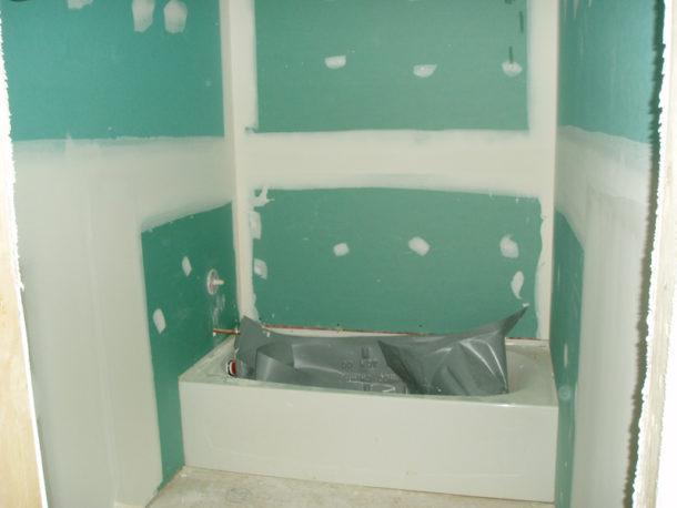 ГКЛВ в ванной
