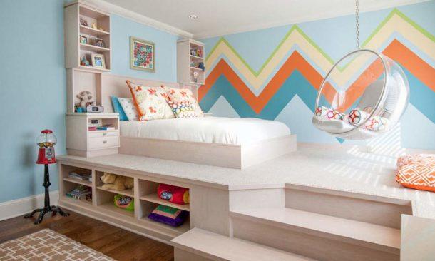 Кровать на возвышении для ребенка