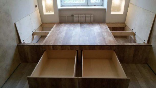 Откидной пол и ящики