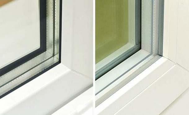 Черная и серая резинка: вид в окне