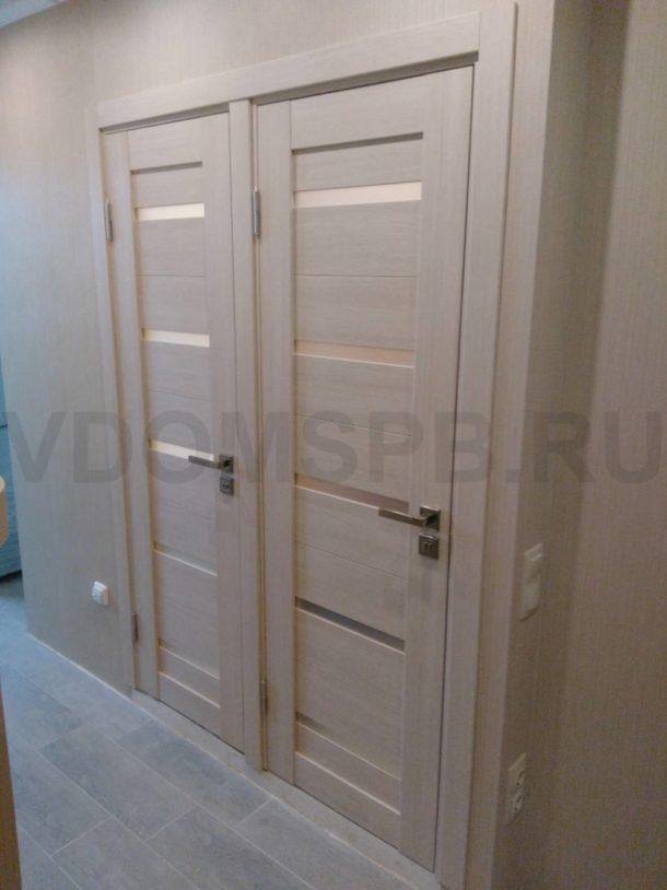 Двери в ванную и туалет 137 серии с покрытием из экошпона