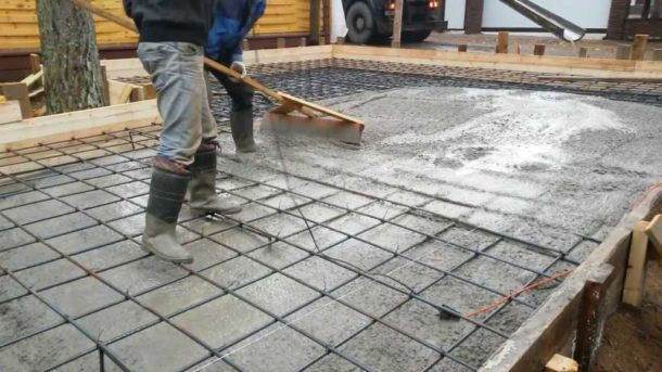 Фундамент плита для гаража из профнастила