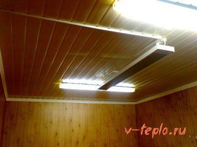 Система отопления гаража на выхлопе газового котла из дома