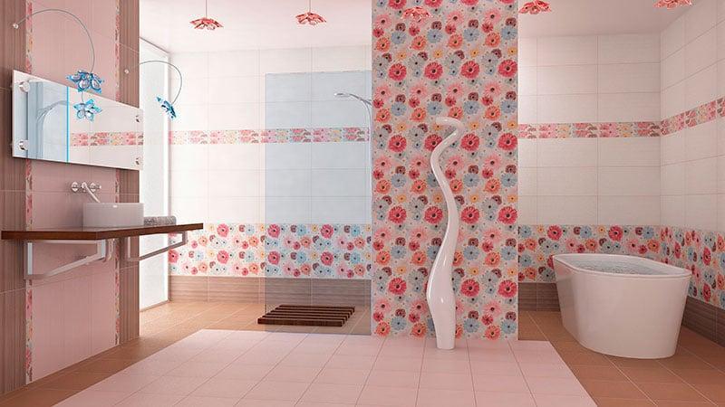 Варианты панно из плитки для ванной комнаты 185 Фото Вариантов на стену