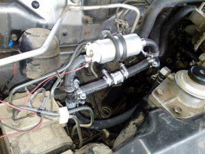 Установка топливо подкачивающего насоса