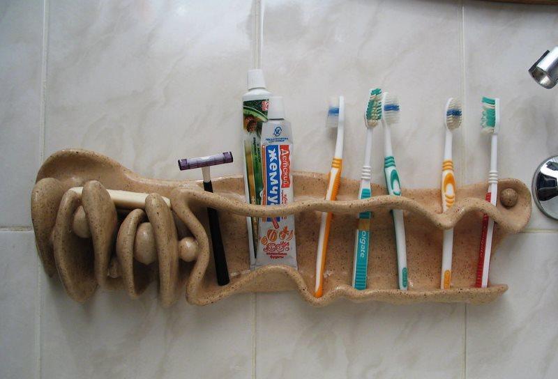 Маленькая ванная: 40 простых идей для хранения мелочёвки