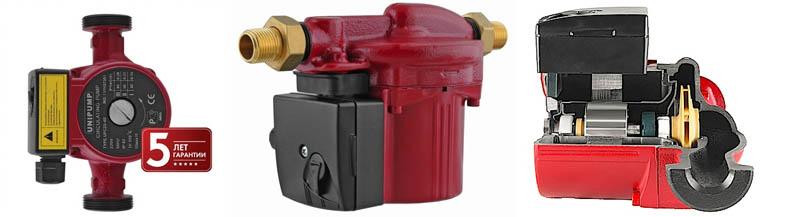 Технические характеристики циркуляционных насосов для систем отопления