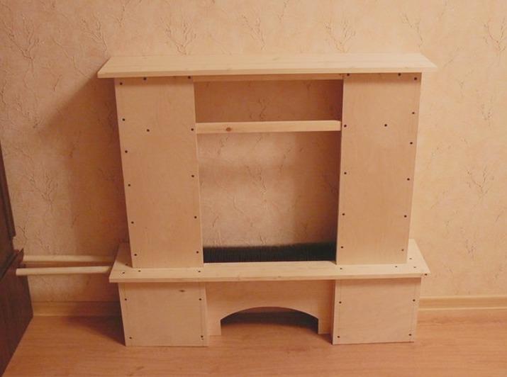Портал для камина из гипсокартона