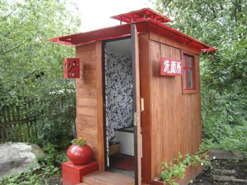 Теплый туалет на даче